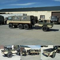 Nice 6x6 712-M with Canadian M101A Trailer!